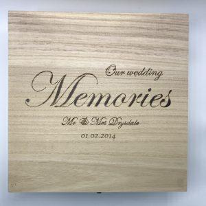 Personalised Wedding Memories Wooden Box Large