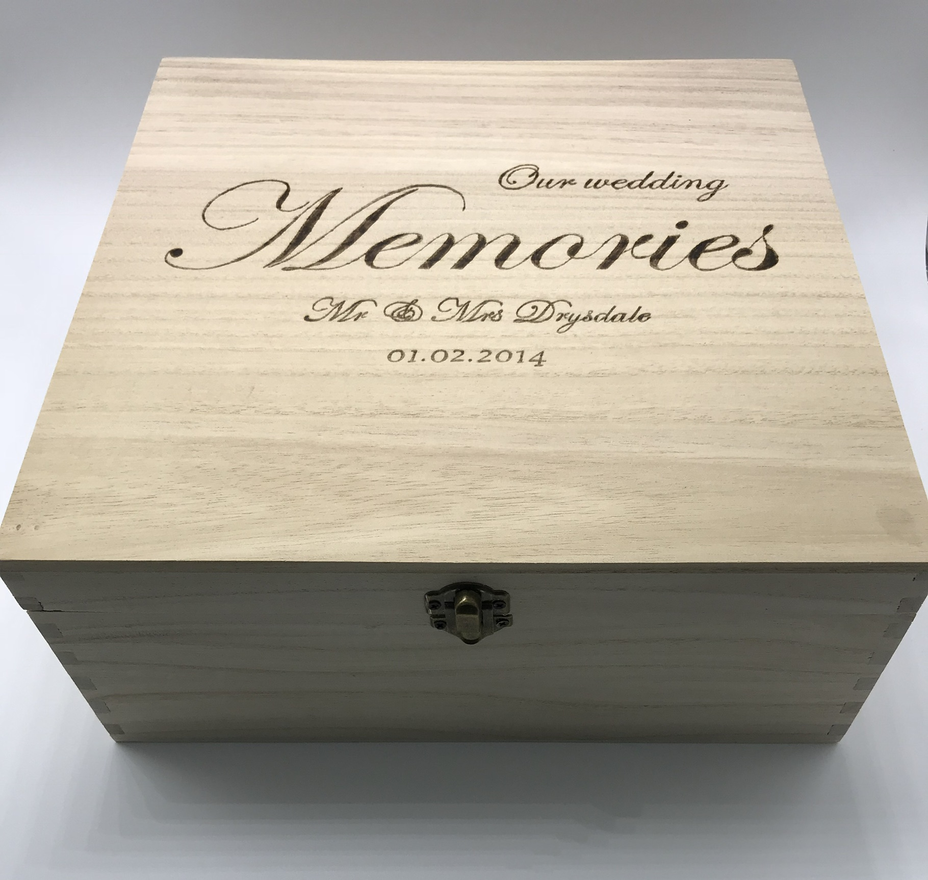 New Personalised Wedding Memory Boxes