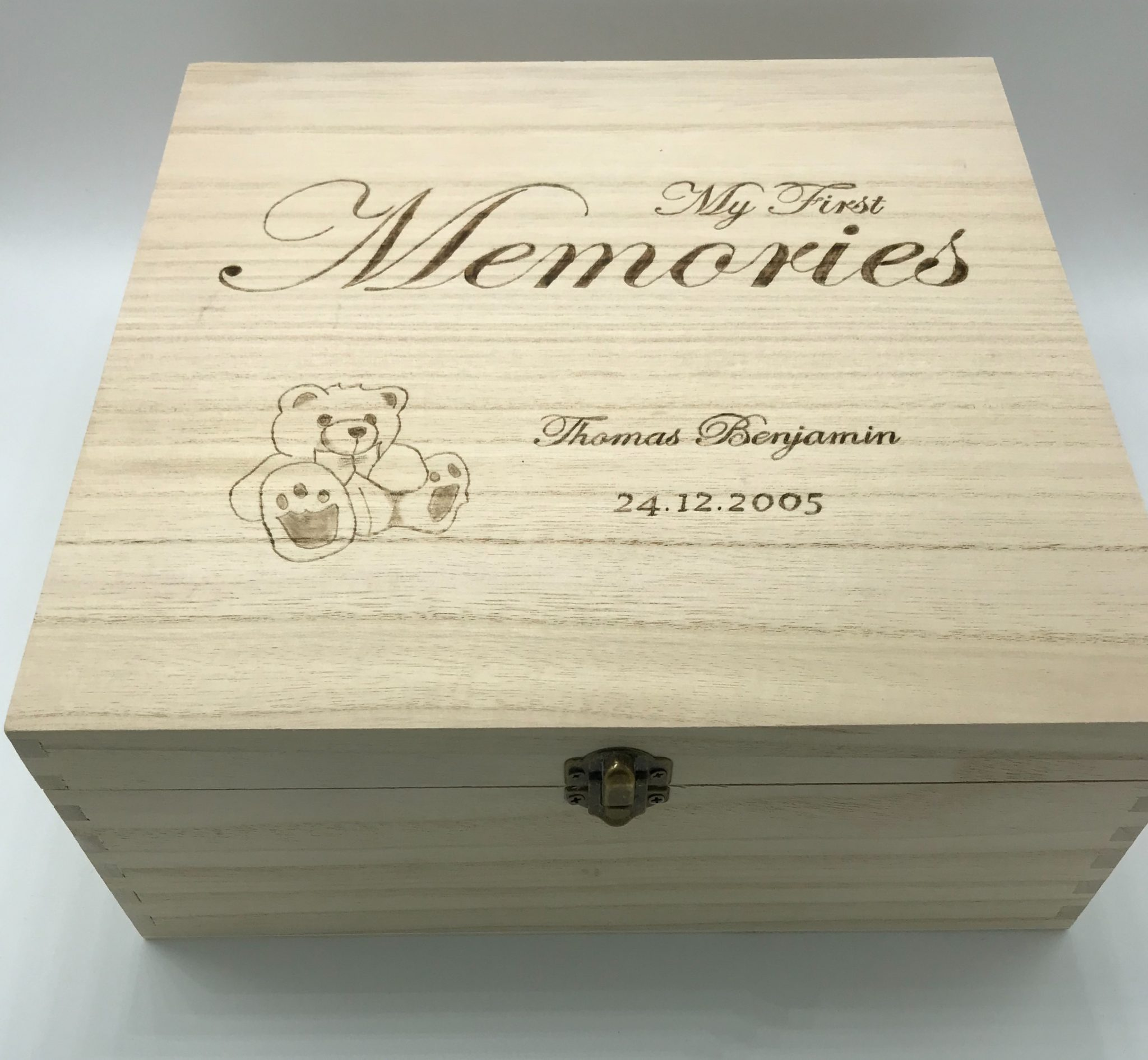 New Personalised Baby's First Memory Boxes