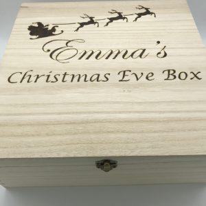 Personalised Santa Sleigh Christmas Eve Box