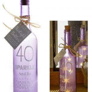 40th Birthday Starlight Bottle