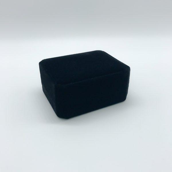 Black velvet gift box