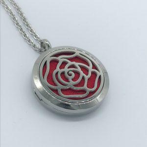 Rose Design Essential Oil Pendant