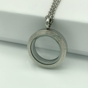 Sparkle Stainless Steel Memory Locket 25mm