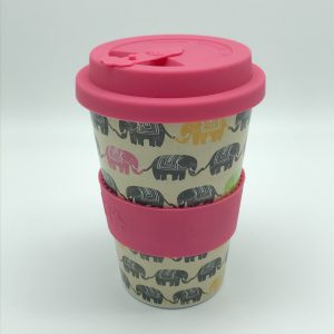 Pink Elephant Rice Husk Cup