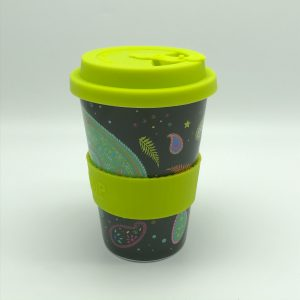 Paisley Cosmos Rice Husk Cup
